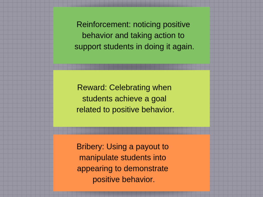 Reinforcement, reward, and bribery.